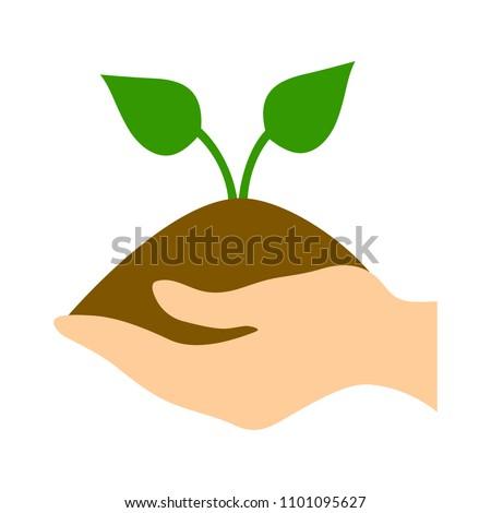 vector green ecology sign, green environment illustration symbol - eco icon