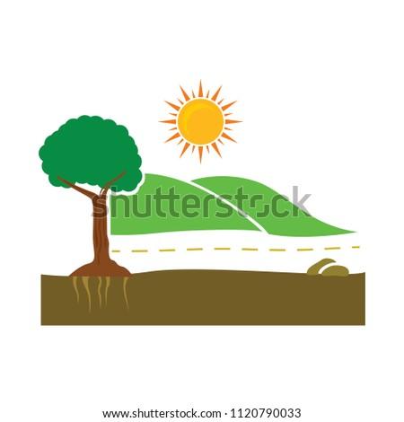 vector green environment concept. eco plant, green power - environmental abstract