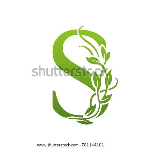 Vector Green Garden Letter S Logo