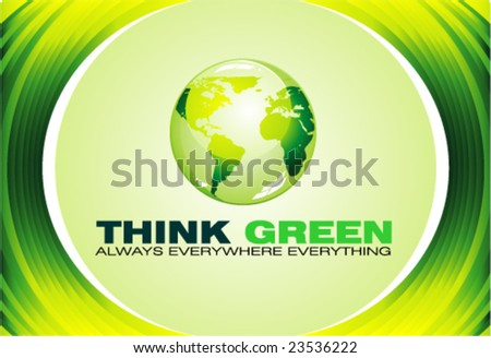 VECTOR Green Globe for Ecology business background