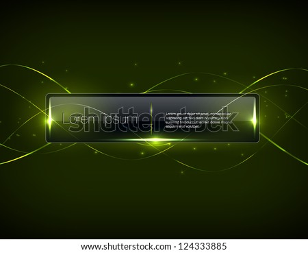 vector green glowing glass