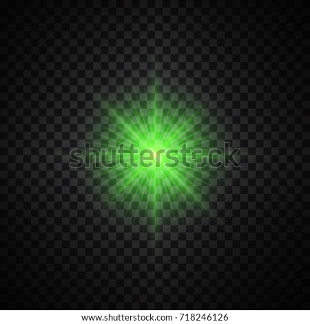 vector green glowing lights on