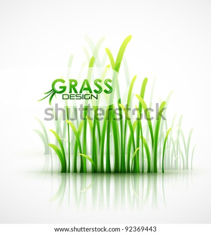 Vector green grass modern background