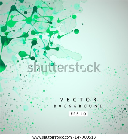 Vector green grunge background