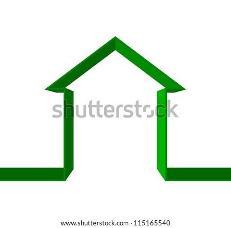 Vector green house icon