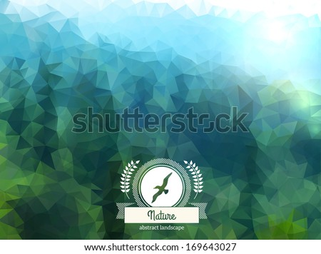 vector green landscape with