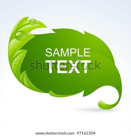 vector green leaf frame  spring