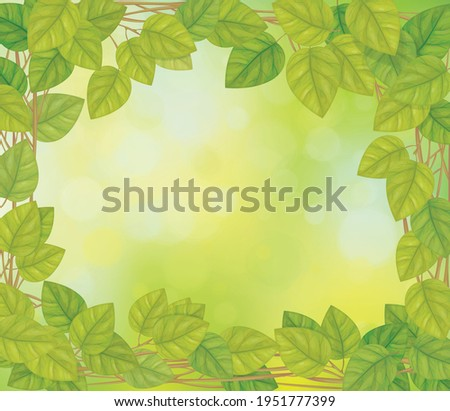 vector green leaves  branches