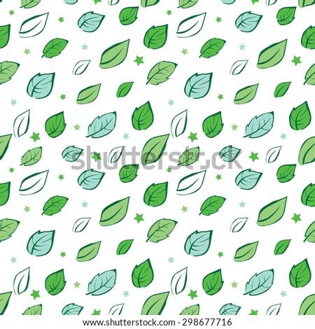 vector green leaves diagonal