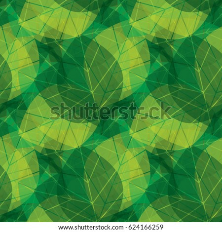 vector green leaves pattern