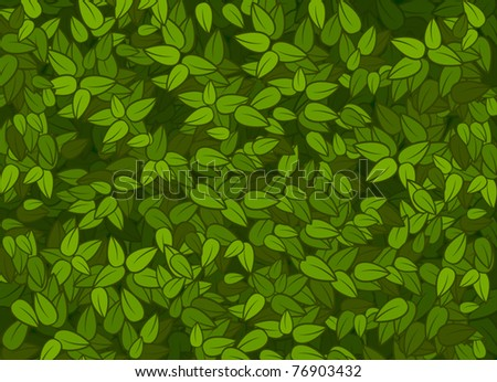 vector green leaves texture