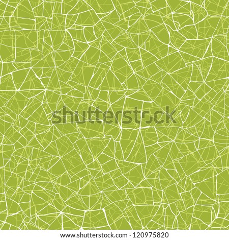 Vector green mosaic texture seamless pattern background with hand drawn abstract line art.