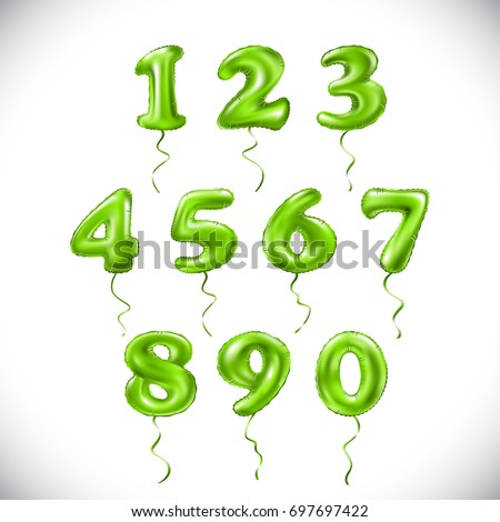 vector green number 1  2  3  4