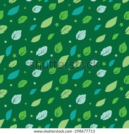 vector green painted leaves