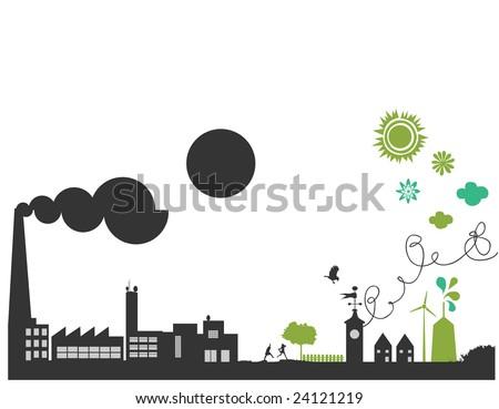 vector - green planet