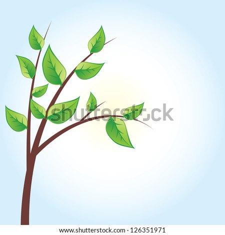vector green tree, green leaves