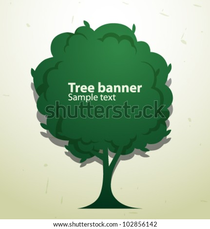 Vector green tree speech banner 1 102856142 shutterstock - Tell tree dying order save ...