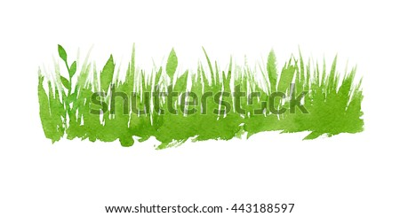 vector green watercolor natural
