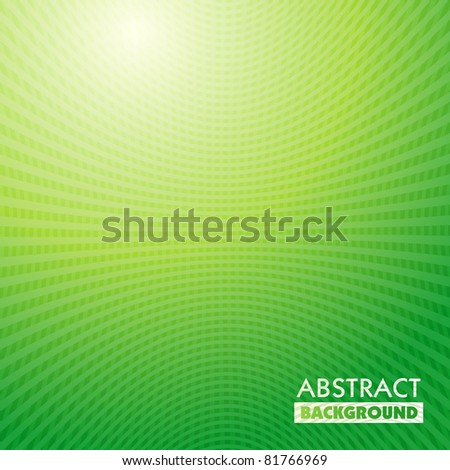 vector green waves Grid abstract light background