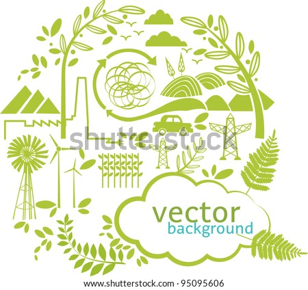 vector green world