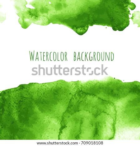 vector greenery watercolor