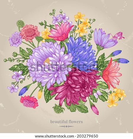 vector greeting card with a
