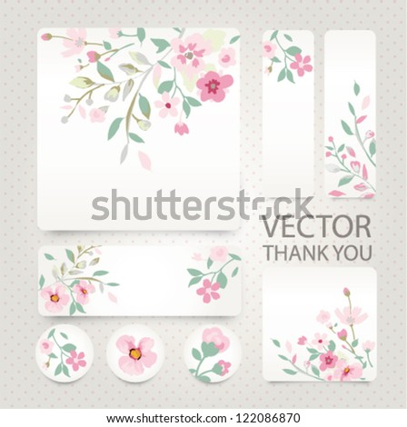 vector greeting card with tiny flower,floral