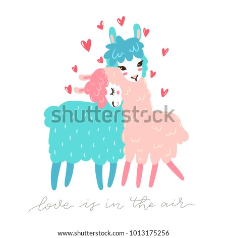 vector greeting card with two