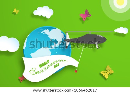 vector greeting paper craft of