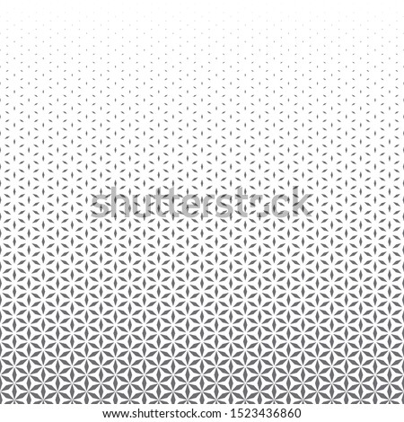 vector grey monochrome sacred geometry flower of life horizontal liner gradient pattern white background