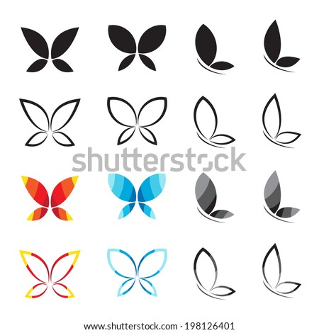 vector group of butterfly on