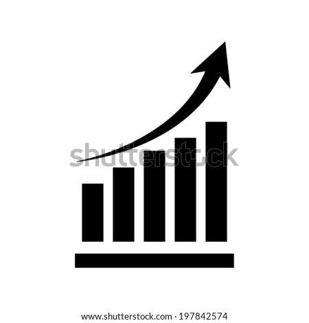 Vector growing graph icon