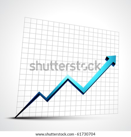 vector growth progress blue arrow