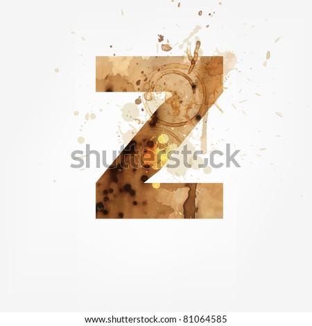 Vector Grunge Alphabet, Z