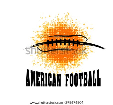 vector grunge american football