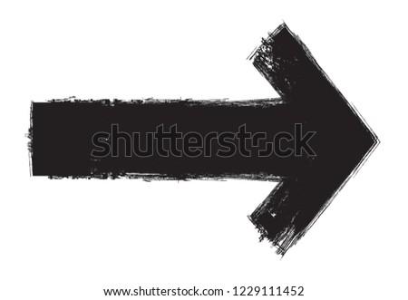 Vector grunge arrow.Grunge arrow design.