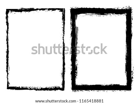 Vector grunge background.Grunge border frame for your design. #1165418881