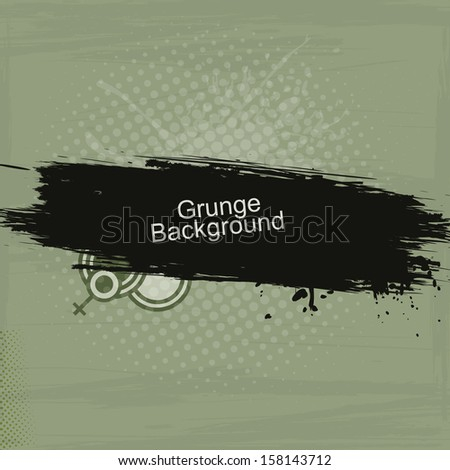 vector grunge background with copy space