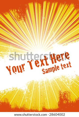 Vector grunge background with copy space for your text. Global Swatches Included.