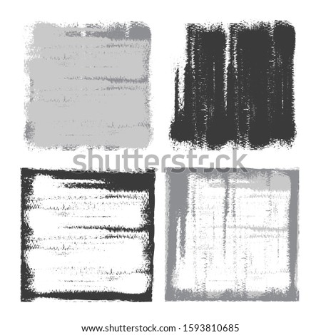 Vector grunge backgrounds. Grunge frames. Grunge borders. Grunge grey squares on white background.