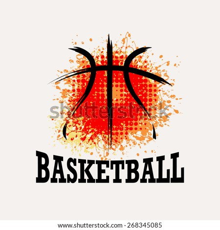 vector grunge basketball    t