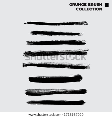Vector Grunge Brush stroke Collection