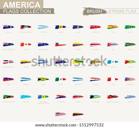vector grunge brush stroke flag