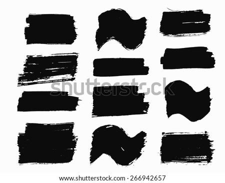 vector grunge brush strokes