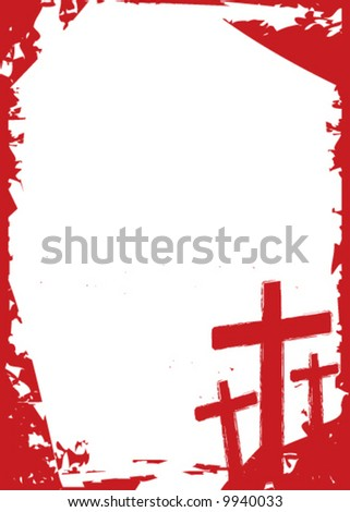 Vector grunge Christian cross background