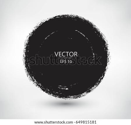 Vector grunge circle. Grunge round  banner. #649815181