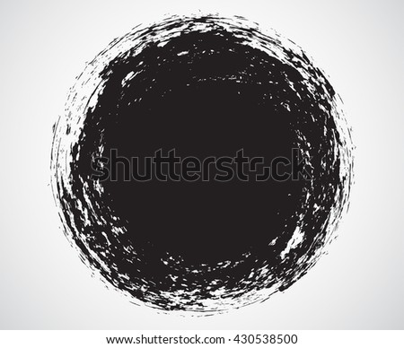 Vector grunge circle. Grunge round shape. #430538500