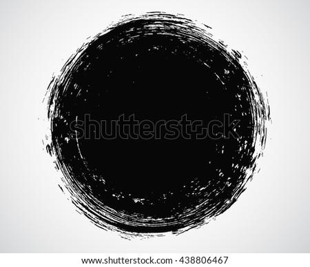 Vector Grunge Circle.Grunge Round Shape. #438806467
