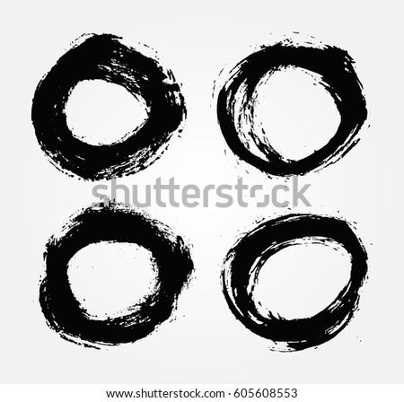 Vector grunge circle.Grunge round shape.