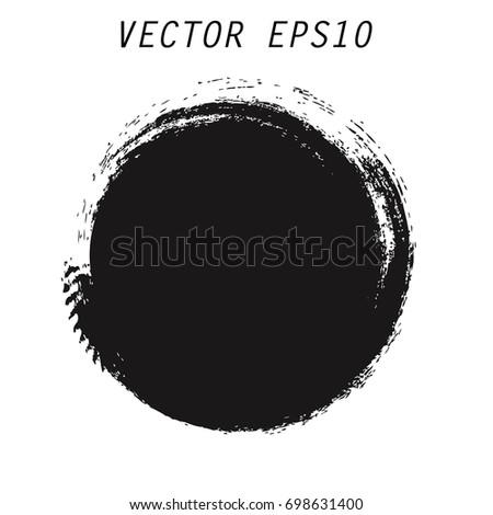 Vector grunge circle. Grunge round shape. #698631400